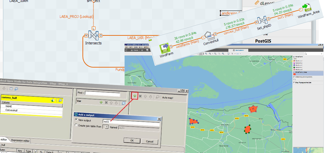 Spatial-ETL with Talend exemplified
